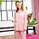 睡衣 針織棉女性長袖褲裝睡衣(R87210-15度假風情) 蕾妮塔塔 product thumbnail 1