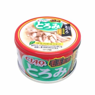 日本 CIAO 多樂米濃湯罐 A-56 化毛配方 雞肉&鮪魚&干貝 80g
