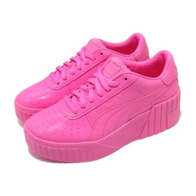 Puma 休閒鞋 Cali Wedge PP 厚底 女鞋 聯名款 皮革 穿搭 少女 浮誇系 桃紅色 粉色 37390401