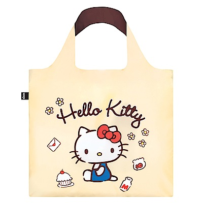 LOQI 購物袋-三麗鷗授權 (Hello Kitty 手繪 KT12)