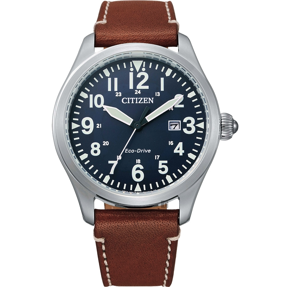 CITIZEN 星辰 光動能飛行家手錶-42mm(BM6838-33L)