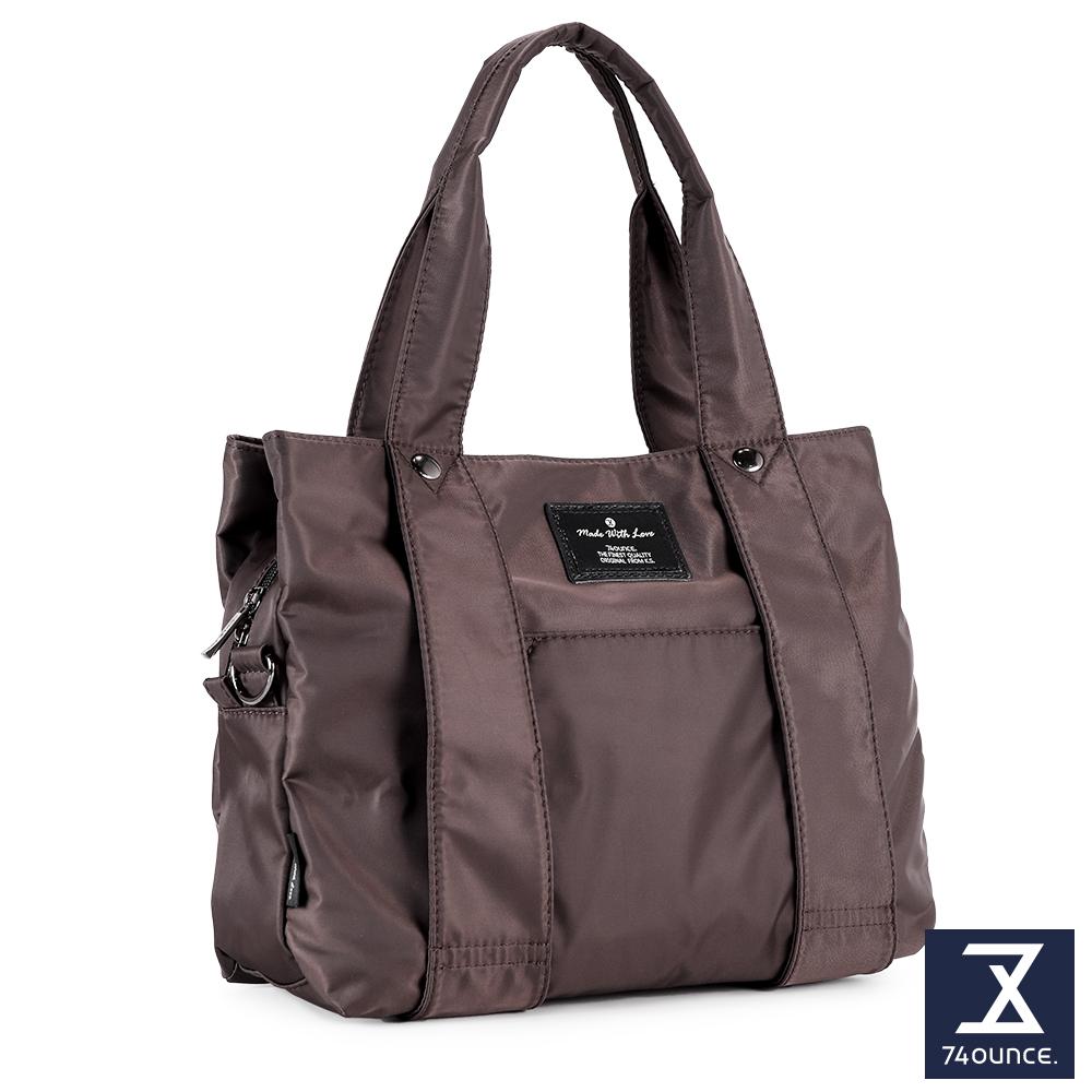 74盎司 Simple 多夾層設計手提側背包[LG-798]咖啡