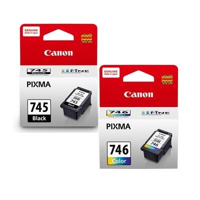 CANON PG-745 黑色 +CL-746 彩色 原廠墨水匣組合