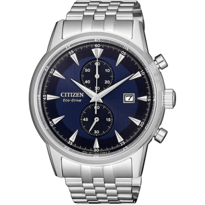 CITIZEN星辰 光動能雙眼計時時尚腕錶-42.5mm(CA7001-87L)