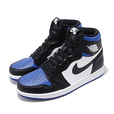 Nike 休閒鞋 Air Jordan 1代 OG 男鞋 Game Royal 小閃電 喬丹 AJ1 黑 藍 555088041