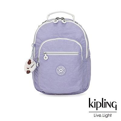 Kipling 法式丁香紫機能手提後背包-CLAS SEOUL S