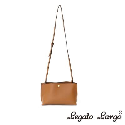 Legato Largo 驚異的輕量化 小法式輕便簡約 斜背小方包 焦糖駝色