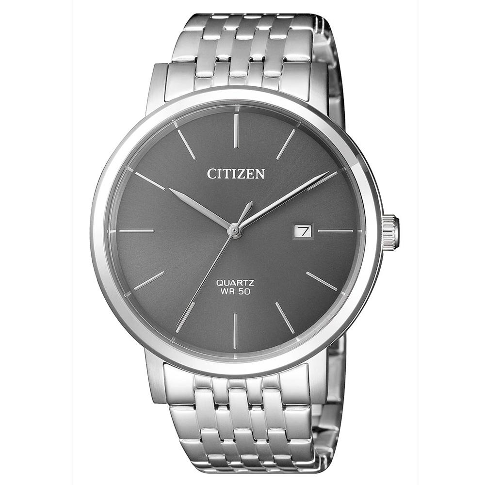 CITIZEN 皇極璽豪石英腕錶(BI5070-57H)-灰x40mm