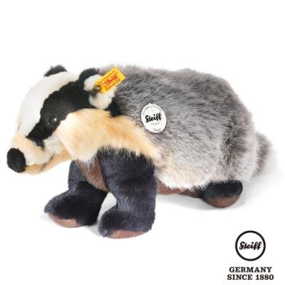 STEIFF德國金耳釦泰迪熊 Diggy Badger 迪吉獾 (動物王國) 32cm