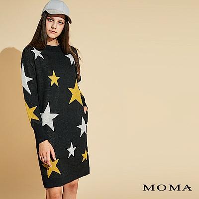 MOMA 五角星緹花長版上衣