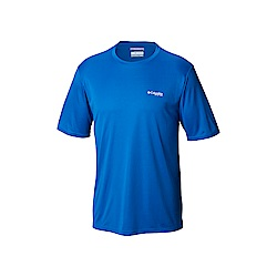 Columbia哥倫比亞 男款-UPF50快排短袖上衣-藍色 UFE00740BL