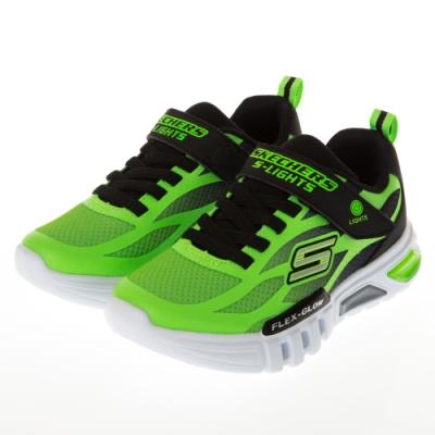 SKECHERS 男童系列FLEX GLOW 燈鞋 - 400016LLMBK
