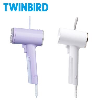 【成雙成對組】日本TWINBIRD-高溫抗菌除臭 美型蒸氣掛燙機TB-G006TW(丁香紫+白)