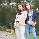 東京著衣 荷葉下襬壓紋西裝外套-S.M(共三色)