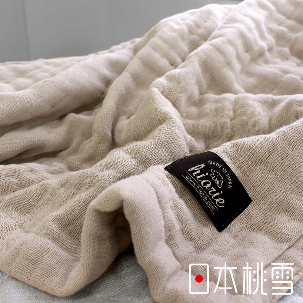 日本桃雪八層紗透氣被(莊園米)