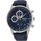 SEIKO精工 CS 城市系列計時手錶(SSB333P1)-藍/42mm