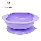 【MARCUS&MARCUS】動物樂園矽膠防漏幼兒學習吸盤碗-鯨魚(紫)