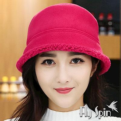 FLYSPIN 刷毛絨加厚防風格紋冬帽 護臉面罩