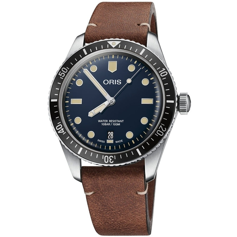 Oris 豪利時 Divers Sixty Five 機械錶-藍x咖啡/40mm