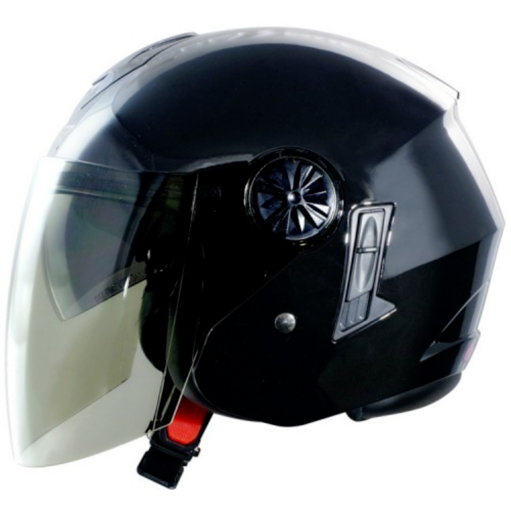 GP-5-時來運轉 繽紛安全帽 │導流通風設計│機車│內襯│開放式安全帽│內墨鏡 (亮黑色)