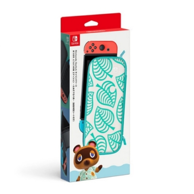 任天堂 Nintendo Switch 動物森友會主機便攜包 含保護貼