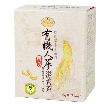 曼寧 有機人蔘滋養茶(6gx10入)