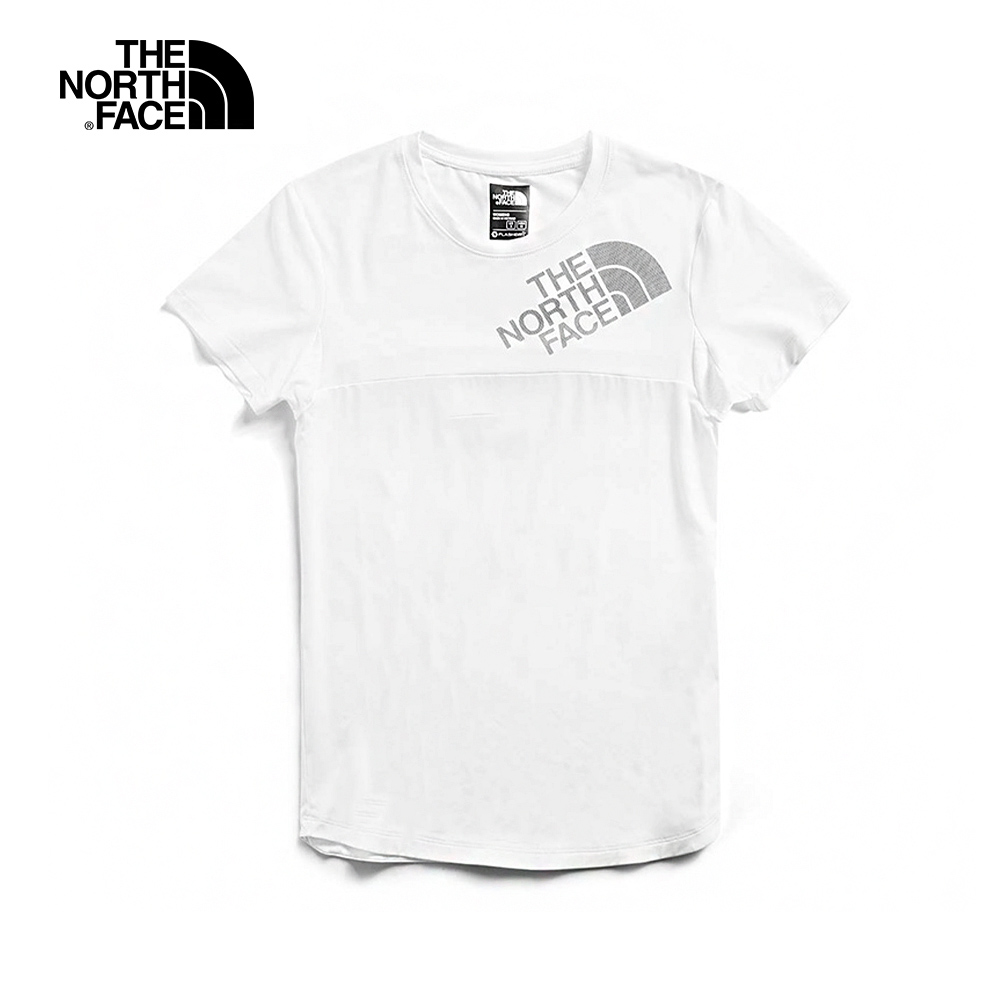 The North Face北面女款白色防曬透氣T恤 3V6OFN4
