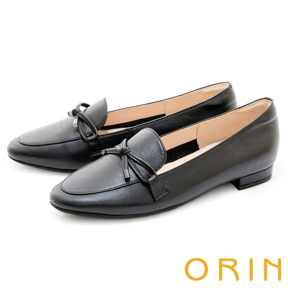 [今日限定] MAGY熱銷平底鞋均價1180 (C.細版蝴蝶結真皮樂福鞋-黑色)