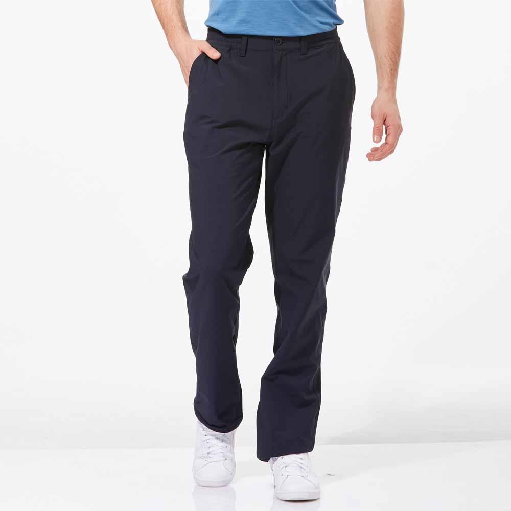 【HAKERS 】男 抗UV快乾彈性修身長褲-深軍藍