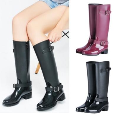 LN 現+預 經典環扣側拉鍊長雨靴-2色