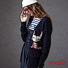 箱子-BLUE WAY-俏皮口袋貓長版針織外套