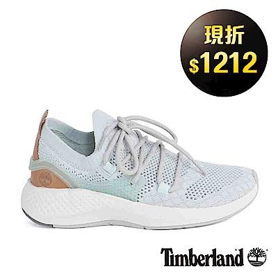 Timberland 女款FlyRoam Go淡藍色皮革針織飛型鞋