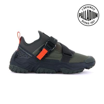PALLADIUM OFF-GRID LO UTILITY快穿輕量輪胎潮鞋(扣帶)-中性-墨綠