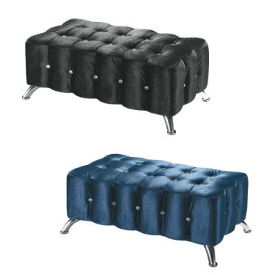 MUNA 水鑽沙發長方椅(共兩色) 90X40X38cm