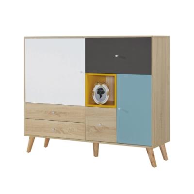 文創集 伊帕卡 現代4尺二門四抽置物櫃/收納櫃-120x40x106cm免組