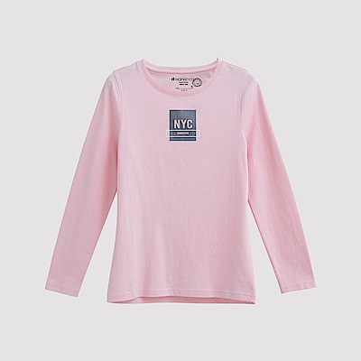 Hang Ten - 女裝 - 有機棉 NYC方塊圖章T恤 - 粉紅