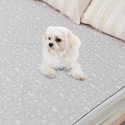 米夢家居-台灣製造-全方位超防水止滑保潔墊/寵物墊150x186cm-北極熊