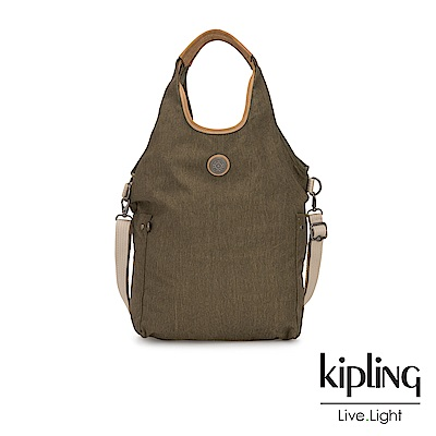 Kipling 城市探索橄欖綠肩背側背包-URBANA-EDGELAND系列
