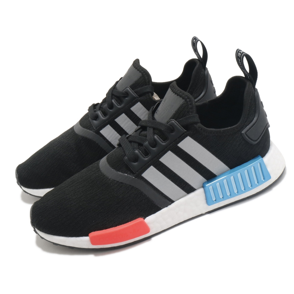 adidas 休閒鞋 NMD R1 襪套式 男女鞋 愛迪達 三葉草 Boost底 緩震 穿搭 黑 紅 FY5727