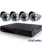 奇巧 4路五合一 5MP台製數位監控主機-含SONY 1080P監視攝影機*4