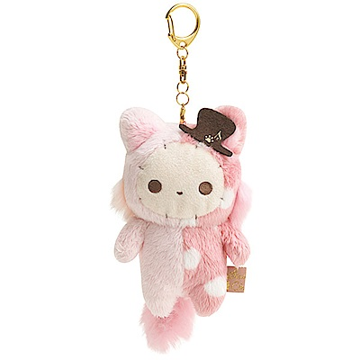 魔幻馬戲團貓咪鋼琴系列毛絨公仔吊飾。團長兔 San-X
