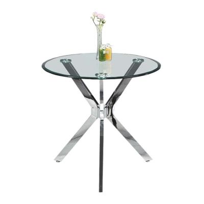 柏蒂家居-漢卡特2.7尺玻璃洽談桌/休閒桌/圓桌-80x80x75cm