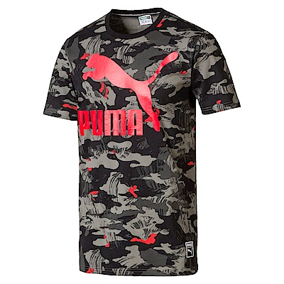 PUMA-男性流行系列Archive Logo印花短袖T恤-黑色-亞規
