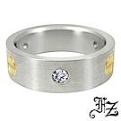 FZ  圓滿愛情白鋼戒指(美圍6號)