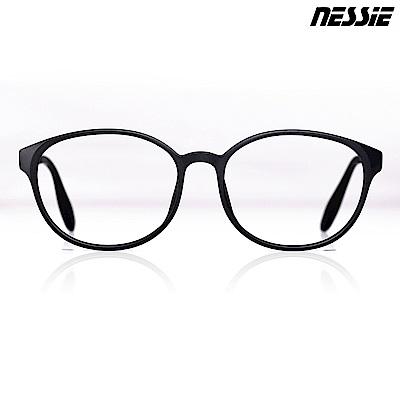 【Nessie尼斯眼鏡】抗藍光眼鏡-復古系列-PC1801(黑)