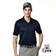 【Lynx Golf】男款歐洲進口布料圖騰風短袖POLO衫-深藍色 product thumbnail 2