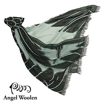 Angel Woolen霓裳-印度手工串珠羊毛披肩-裸裳