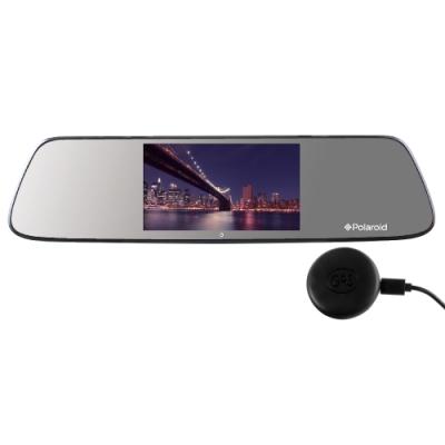 Polaroid 寶麗萊 DE501GS+GC2 星光夜視 GPS 後視鏡行車記錄器-快