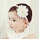 Baby童衣 新生兒髮帶 大花朵造型頭飾 寶寶頭帶 88768 product thumbnail 1