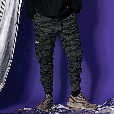 CACO-不對稱口袋縮口褲-(兩色)-男【QST072】